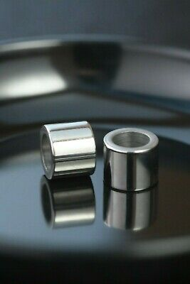5 Pieces Stainless Steel 10mm x 8mm Tube / Column Bead Hole is 6mm