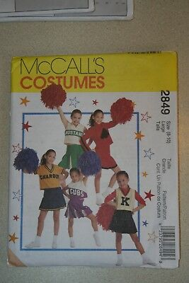 MCCALLS Sewing Pattern 2849 GIRL'S CHEERLEADER COSTUME Halloween Size 8-10 UNCUT