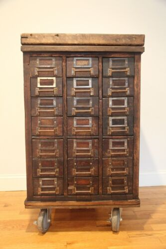 vintage parts cabinet mid 1900s
