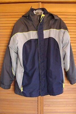 Boys Cherokee 4-in-1 Hooded Winter Coat Jacket size XL Gray Blue Fall Jacket ()