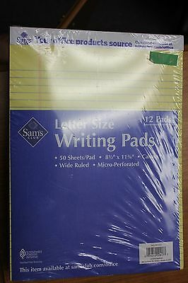 12 Letter Sized Legal Perforated Writing Pad Pads 8 12 X 11 34