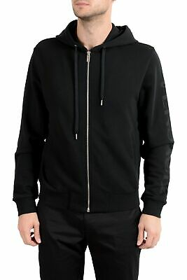 Versace Men's Black Full Zip Hoodie