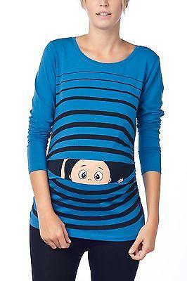 Mama Maternity T-shirt (Umstandsshirt Mama Maternity T-Shirt Schwangerschaftsgeschenk Baby Guck Guck)