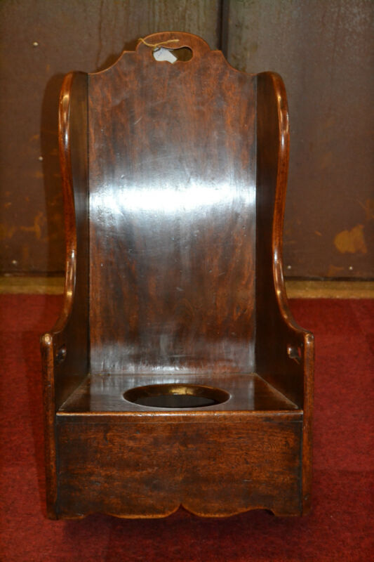 Antique Georgian 18th century Childs Mahogany Rocking Chair, Potty Hole,c1790