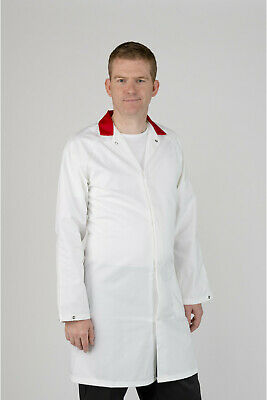 Men's White Lab / Warehouse Coat – Small (40