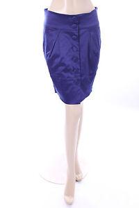 Ladies-Blue-Purple-Satin-Mini-Skirt-Size-14-Et-Vous-Tulip-Party-Clubbing