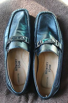 Men's Black Loafers Size 8M Claiborne Memory Foam