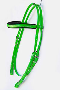 PVC-Snaffle-Bridle-Head-Lime-Green-Black