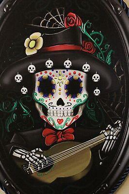 Sugar Skull Male (Skull Sugar Skull Day of the Dead Wall Hanging Plaque Male Skeleton New)