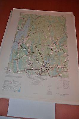 1940's Army topographic map Fall River East Massachusetts -Sheet 6767 II NE