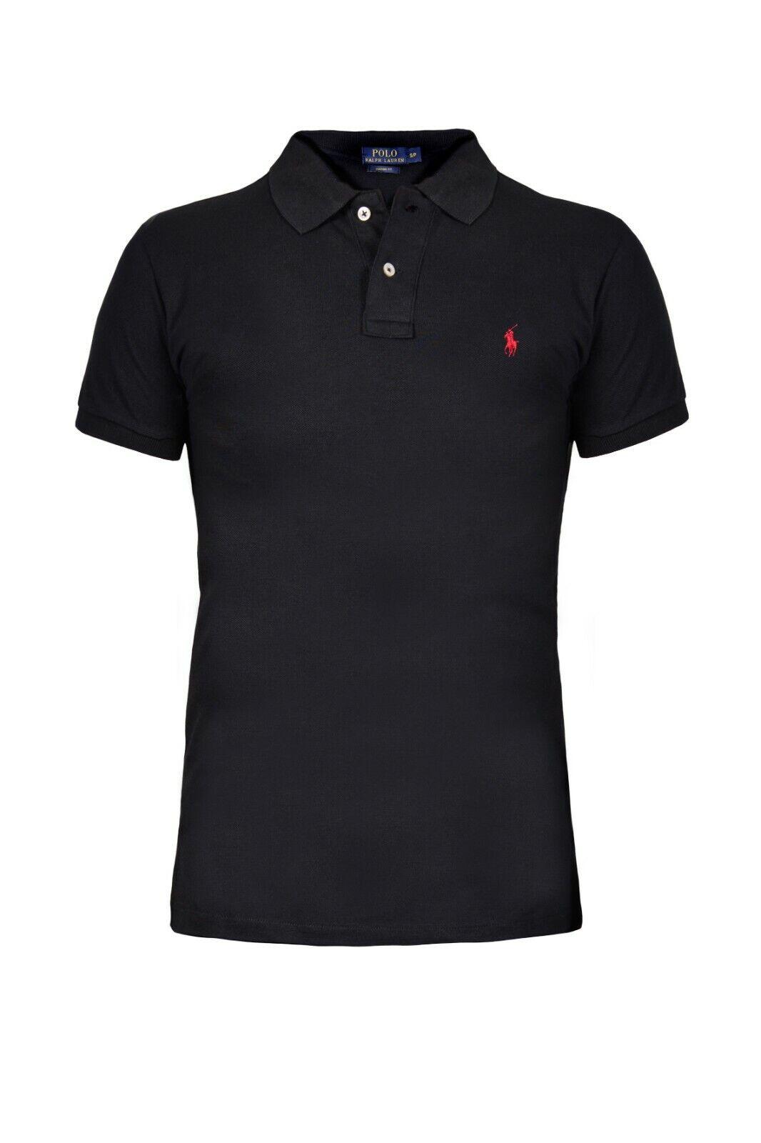 Ralph Lauren, Herren Poloshirt, OVP, Custom Fit, Neu, Schwarz