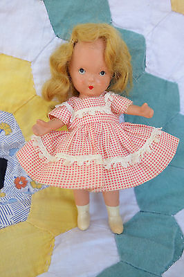 Nancy Ann Storybook Molded Sock Pudgy Doll Bisque White Boots
