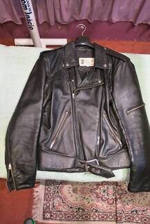 Walden Miller Mens Black Leather Bike Style Jacket