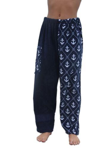 Towel Pants - Anchor Pattern - Beach Coverup Swimwear Resortwear- FREE SHIPPING