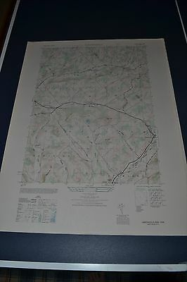 1940's Army (like USGS) topographic map Harpersfield NY Sheet 6068 I  NW