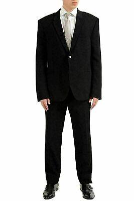 Versace Collection Men's Black Two Button Suit US 46 IT 56