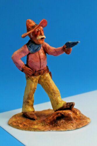 """""""Pot Shot"""" Hand Made Clay Western Statue. Signed Dirksen."""