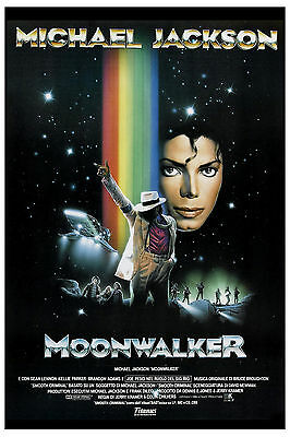King of POP: Michael Jackson * Moonwalker * Movie Poster Circa 1989