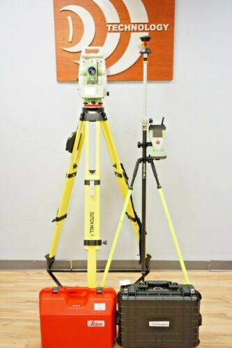"""Leica TCRP1201 R300 1"""" sec Robotic Total Station reflectorless Dual Display 1201"""