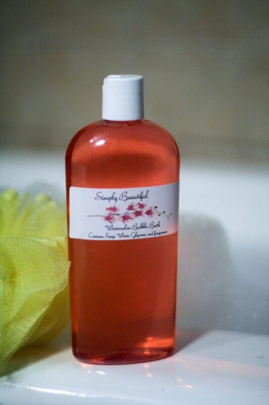 Simply Beautiful Watermelon Bubble Bath 8oz Unisex/Aromatherapy/Womens/Kids
