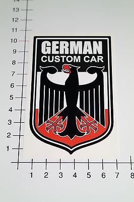 GERMAN CUSTOM CAR Aufkleber Sticker Adler Youngtimer OEM Motorsport Racing Mi208 (Aufkleber Custom)