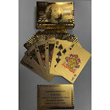 HIGH QUALITY 24K GOLD FOIL PLAYING CARDS NEWEST 100.00 BILL BENJAMIN  FRANKLIN