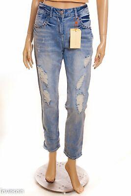 ZARA TRF MMXIII NWT Blue Denim Premium Ripped High Rise Ankle Jeans EUR 36 US 4