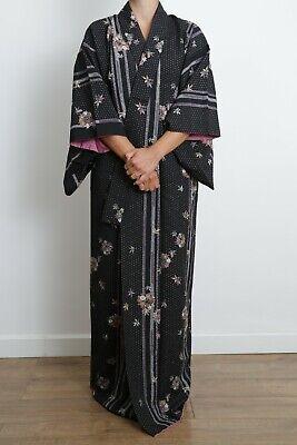 Authentic traditional vintage Japanese komon kimono