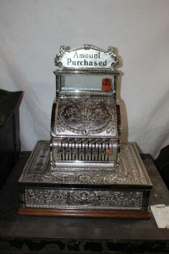 Early 1900s National Cash Register Model 321 Nickel Vintage Register