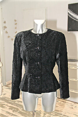 Christian Dior Shop Luxurious Black Jacket Trimmings Size 40 Fr 44i 38 D