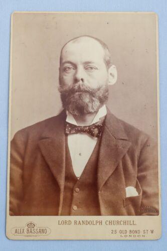 Rare Original Circa 1894 Photo on Card Lord Randolph Churchill