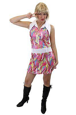 Groovy Sexy Kleid Kostüm Damen Swinging Sixties Paisley 60er Beatnik 70er (Kostüm Sixties)