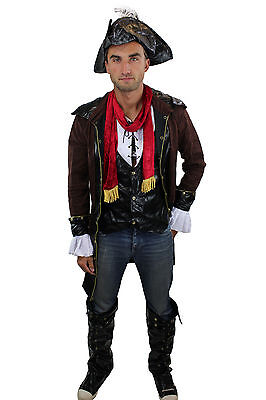Cooles Set: Herrenkostüm Kostüm Steampunk Rockabilly-Pirat Pirat L011 Gr. 48 - Piraten Männliche Kostüm