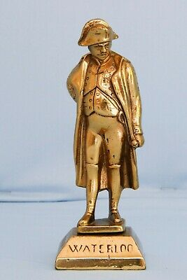 Antique Brass Statue French Emperor Napoleon Bonaparte Waterloo Wellington