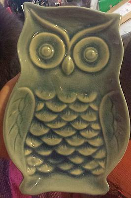 Gisela Graham - Blue Ceramic Owl Decorative Dish/Plate - FREE P&P