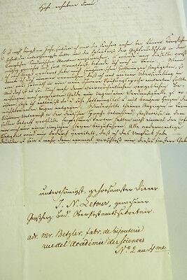 Politischer Flüchtling J.N. LETOUR: Bittbrief TURIN 1853 an KÖNIGIN v. Sardinien