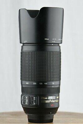 Nikon 70-300mm f/4.5-5.6G VR Lens AF-S Fx/Dx Zoom Tele Nikkor IF-ED