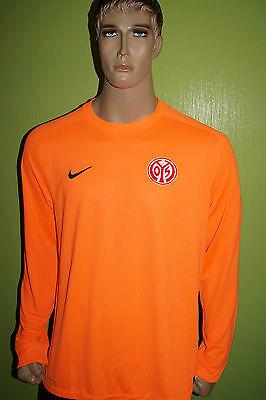 Nike Mainz 05 Torwart Trikot Jersey Maillot Gr L orange gepolsterte Ellenbogen
