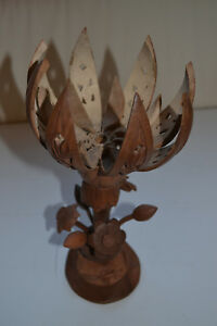 Indian wooden table lamp Lotus Flower-shapedHandcarved Christmas Gift MAKE OFFE