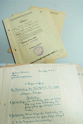 WERNER KRUMBEIN (1916-1997): Belegscheine & Aufsätze Universität BERLIN 1942/43