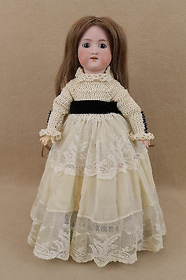 "16"" antique bisque head composition German Armand Marseille Doll w Human Hair"