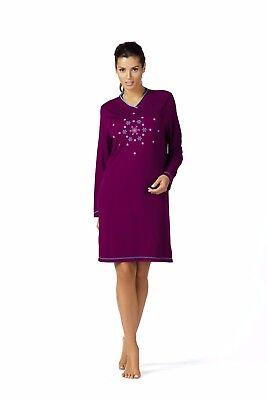 Comtessa Night+Day Premium Single Jersey Nachthemd Nachtkleid aqua, beere NEU ()