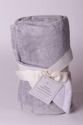 NWT Pottery Barn Kids Chamois solid gray stroller baby blanket crib