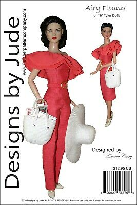 Airy Flounce  Doll Clothes Sewing  Pattern for 16