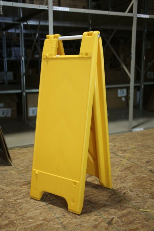 "Plastic A-Frame - 12""x24"" Narrowcade (Yellow)"