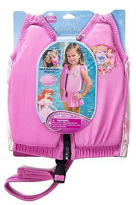 Princess Swimming Jacket Kids Float Child Training Vest & Swimwear - Small 3-5