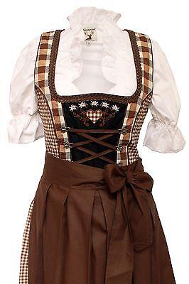 Germany,German,Trachten,Oktoberfest,Edelweiss,Dirndl Dress,3-pc.Sz.6,Browns.FREE