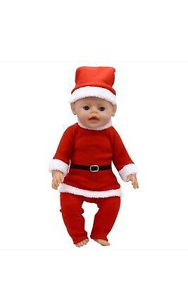 Puppenkleidung, Weihnachten, rot, 43 cm, zb. Baby Born/Sister, NEU