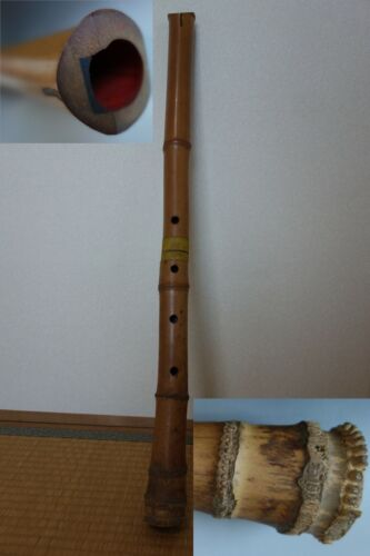 shakuhachi Japanese vertical bamboo flute musical instrument vintage showa #5