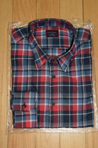 UNTUCKit Nebbiolo Red Plaid Button-Down Long Sleeve Shirt Sz L - NWT